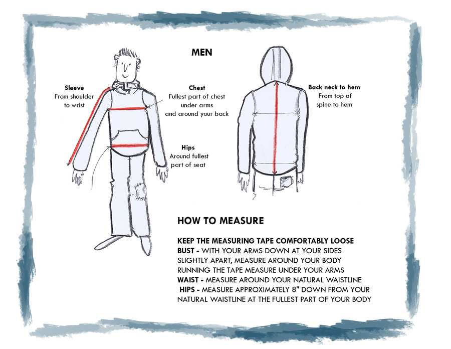 Mens How to Measure Guide