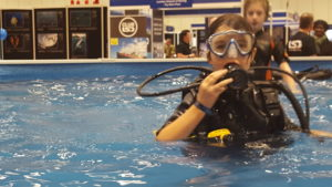Scuba Diving at the Dive show
