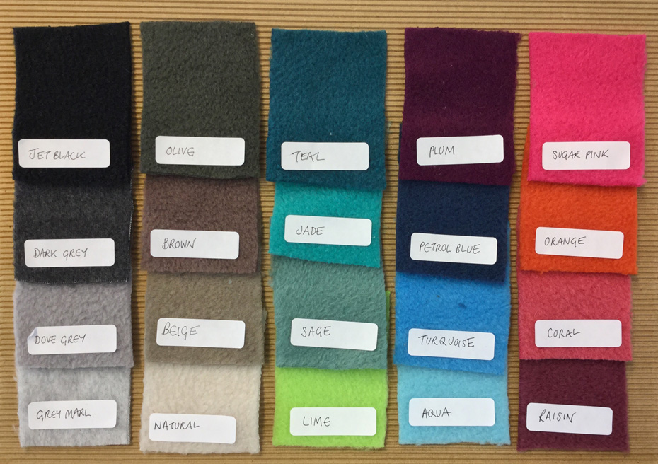 Fleece colours