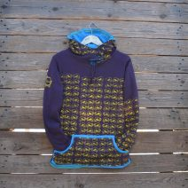 Size 8 plum/turquoise reversible womens hoody