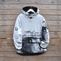 Men's reversible hoody, size large in black/natural