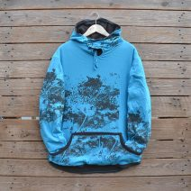 Men's reversible hoody size large in dark grey and turquoise