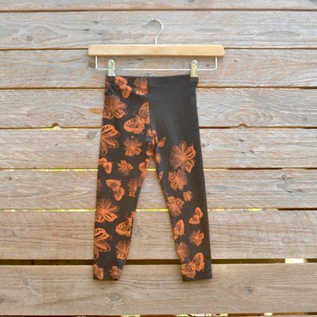 Kid's leggings age 2 in black/orange