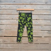 Kid's leggings age 4 black/lime