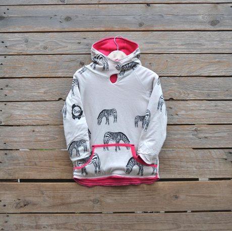 Age 10 Reversible hoody in pink/natural
