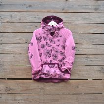 Kids Age 6 Reversible hoody in plum/pink