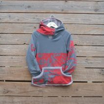 Kid's age 7 reversible hoody light/dark grey