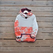 Kid's reversible hoody age 7 plum/natural