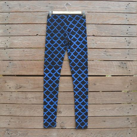 Black/royal leggings