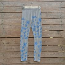Printed leggings in light grey/blue