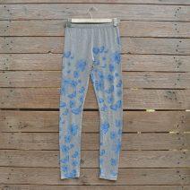 Printed leggings in light grey/blue