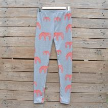 Light grey/coral leggings