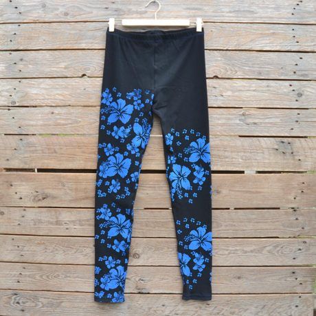 Black/blue leggings