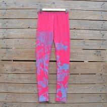 Pink/aqua leggings
