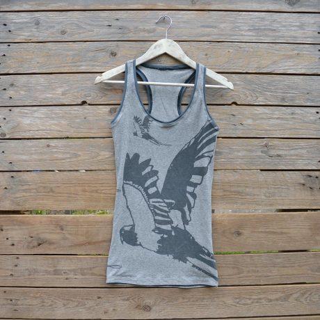 Vest - light grey parrrots