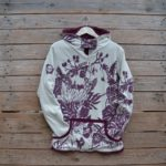 Reversible hoody in plum/natural