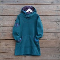 Hoody dress age 12 teal