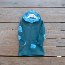 Hoody dress age 2 teal