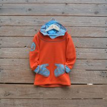 Hoody dress age 3 orange