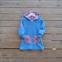 Hoody dress age 3 turquoise