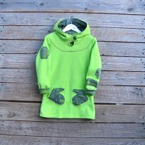 Hoody dress age 5 lime