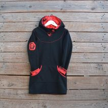 Hoody dress age 7 black