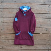 Hoody dress age 9 plum