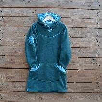 Hoody dress age 9 teal