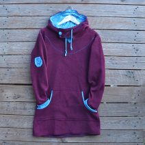 Hoody dress size 14 plum