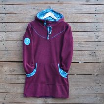 Hoody dress in plum/turquoise - size 14