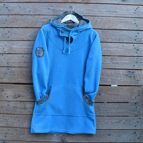 Hoody dress in turquoise/dark grey - size 14