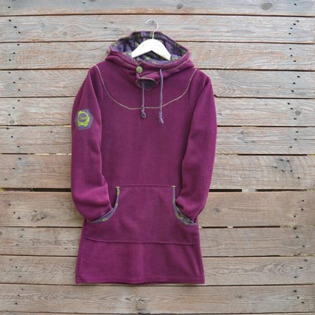Hoody dress in plum/plum - size 8