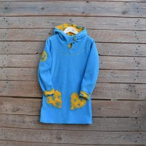 Hoody dress age 7 turquoise
