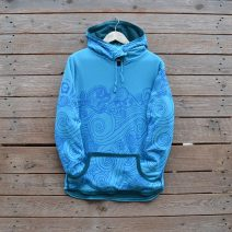 Women's reversible hoody in teal/turquoise - size 12
