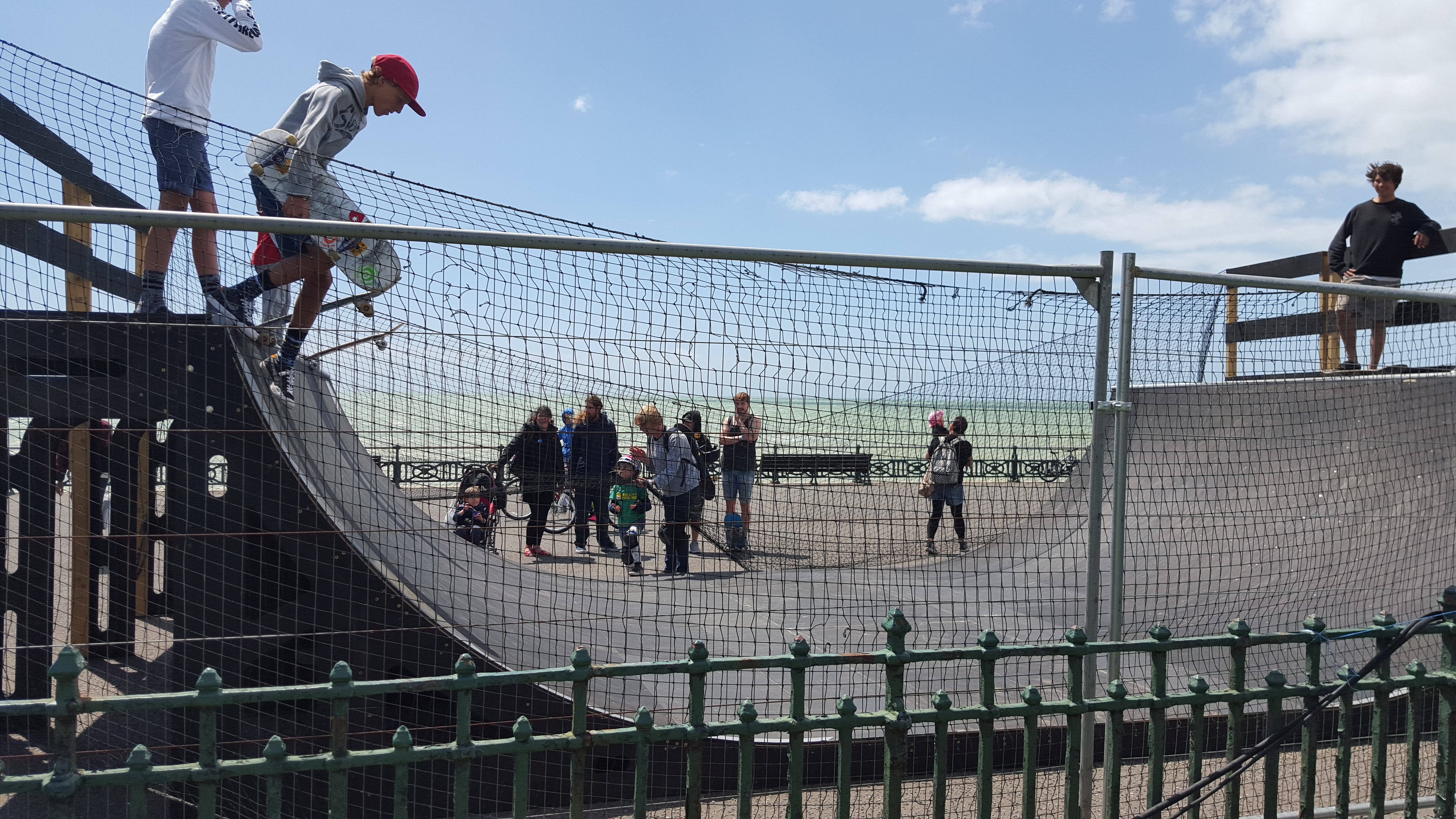 Skate ramp at Paddle Round the Pier