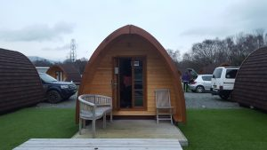 Camping pods at Surf Snowdonia