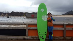 isea Jaz getting ready to Surf Snowdonia