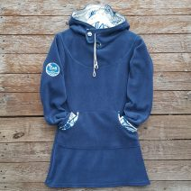 Hoody dress, petrol/natural