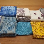 Hand screen printed fabrics