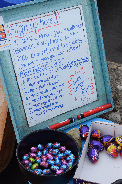 Easter beach clean egg hunt