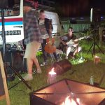 Live music around the camp fire