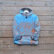 Kid's reversible in dark grey/turquoise