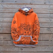 Women's reversible in light grey/orange
