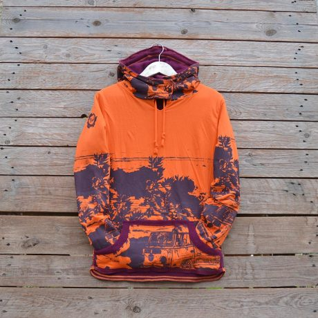 Women's reversible in plum/orange
