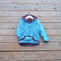 Kid's reversible in plum/turquoise