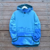 Men's reversible hoody in teal/turquoise