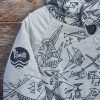 Kid's reversible hoody in dark grey/marl grey - close up