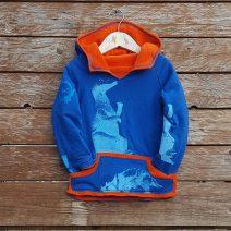 Kid's reversible hoody in orange/royal - front