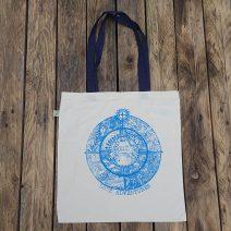 Organic cotton shopper bag with love adventures print