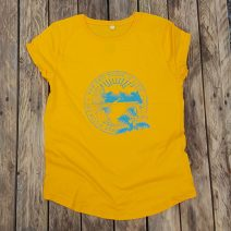 Organic women's t-shirt in gold - wild and free